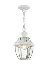Livex Lighting 2152-03 - 1 Light White Outdoor Chain Lantern