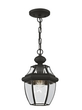 Livex Lighting 2152-04 - 1 Light Black Outdoor Chain Lantern
