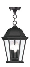 Livex Lighting 7564-04 - 3 Light Black Chain Lantern