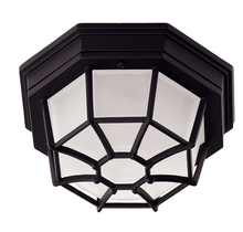 Savoy House 07065-BLK - Exterior Collections Flush Mount