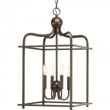 Progress P500036-020 - 4-Lt. Antique Bronze Foyer Pendant