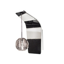 WAC US WS72-G930CL/CH - Polaris Pendant Wall Sconce with Clear Glass in Chrome