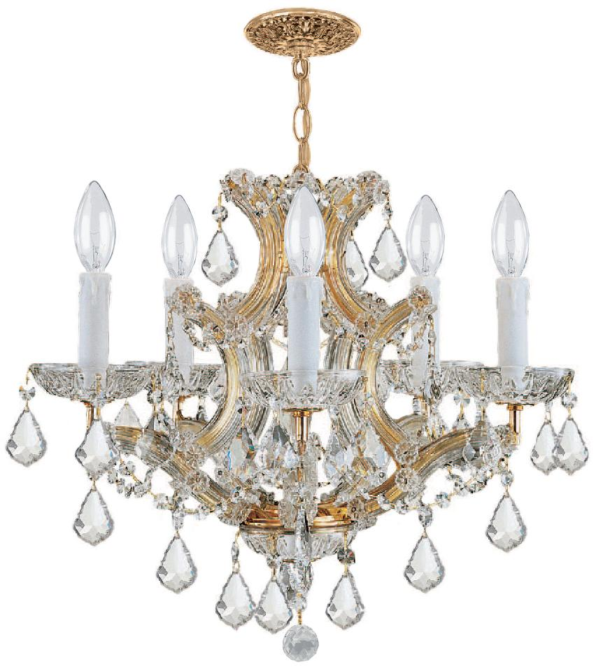 Crystorama maria theresa 6 light clear italian crystal gold mini crystorama maria theresa 6 light clear italian crystal gold mini chandelier mozeypictures Image collections
