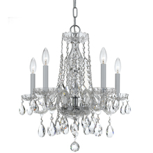 Crystorama 1061-CH-CL-MWP - Traditional Crystal 5 Light Clear Crystal Chrome Mini Chandelier