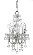 Crystorama 3324-CH-CL-MWP - Imperial 4 Light Clear Crystal Chrome Mini Chandelier