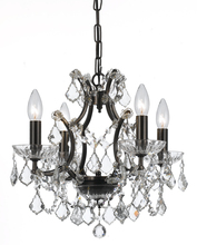 Crystorama 4454-VZ-CL-MWP - Filmore 4 Light Crystal Bronze Mini-Chandelier