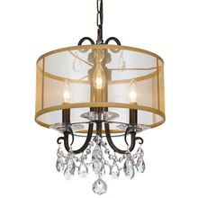Crystorama 6623-EB-CL-MWP - Othello 3 Light Clear Crystal English Bronze Mini Chandelier