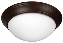 "Jeremiah XPP15AG-3W - Pro Builder Premium 3 Light 15"" Flushmount in Aged Bronze Textured"
