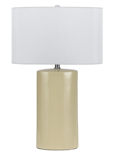 "CAL Lighting BO-2581TB/2-BE - 27"" Height Metal Ceramic Lamp In Beige"