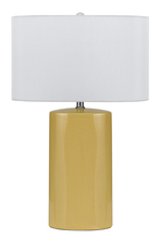 "CAL Lighting BO-2581TB/2-YW - 27"" Height Metal Ceramic Lamp In Pastel Yellow"