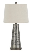 "CAL Lighting BO-2706TB-2 - 28"" Height Resin Table Lamp In Pewter"