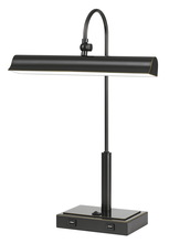 CAL Lighting BO-2779DK-DB - Novara 10W LED Metal Desk Lamp With 2 USB Outlets