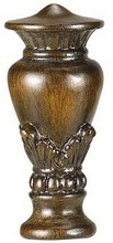 "CAL Lighting FA-5001A - 2.2"" Height Resin Finial In Light Wood"