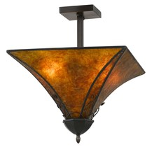 "CAL Lighting FX-3549/1C - 15.75"" Tall Mica Metal Fixture"