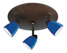 "CAL Lighting SL-954-3R-RUBL - 5.38"" Inch Metal Serpentine Three Light Orbit Ceiling Fixture"