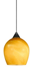 "CAL Lighting UPL-701/6-DB - 5"" Tall Glass And Metal LED Pendant With Brushed Steel Cord"