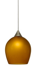 "CAL Lighting UPL-702/6-DB - 5"" Tall Glass And Metal LED Pendant With Brushed Steel Cord"