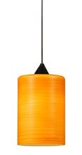 "CAL Lighting UPL-712/10-BS - 5.87"" Tall Glass And Metal LED Pendant With Rust Cord"