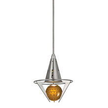 "CAL Lighting UPL-934-AM - 72"" Height Pendant Set In Brushed Steel"