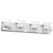 Dainolite V6015-4W-PC - 4LT Vanity Fixture Clear/Frosted Glass
