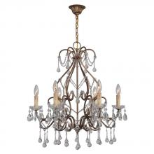 World Imports WI2220690 - Grace Collection 6-Light Antique Gold Indoor Chandelier