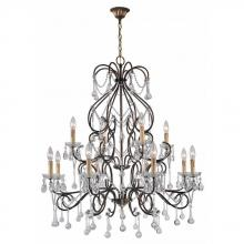 World Imports WI2221790 - Grace Collection 12-Light Antique Gold Indoor Chandelier