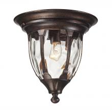 ELK Lighting 45004/1 - Glendale 1 Light Outdoor Flushmount In Regal Bro