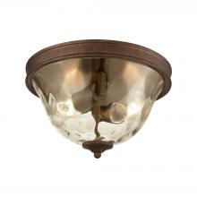 ELK Lighting 46028/2 - Cheltham 2 Light Flush In Mocha With Clear Water