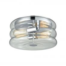 ELK Lighting 46165/2 - Ronis 2 Light Flush In Polished Chrome With Clea