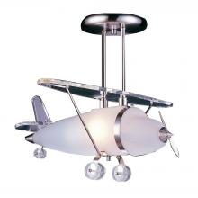 ELK Lighting 5051/1 - Novelty 1 Light Prop Plane Semi Flush In Satin N