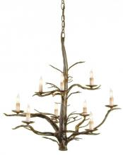 Currey 9327 - Treetop Iron Large Chandelier
