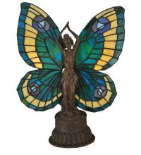 "Meyda Tiffany 48019 - 17""H Butterfly Lady Accent Lamp"